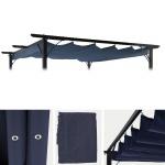 Ersatzdach für Pergola 3, 5x3, 5m HWC-C42, Schiebedach Bezug Sonnenschutz