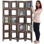 Paravent Fotogalerie, Raumteiler Trennwand Foto-Paravent