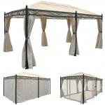 Pergola Cadiz, Pavillon, stabiles 7cm-Gestell 5x3m