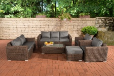 3-2-1-1 Sofa-Garnitur CP050 Lounge-Set Gartengarnitur Poly-Rattan