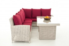 Sofa-Garnitur CP056, Lounge-Set Gartengarnitur, Poly-Rattan