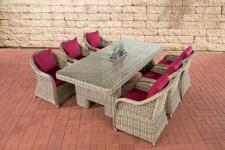 Garten-Garnitur CP065, Sitzgruppe Lounge-Garnitur, Poly-Rattan