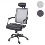 Bürostuhl HWC-A52, Schreibtischstuhl, Kopfstütze Kunstleder/Stoff/Textil ISO9001