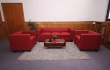 3-1-1 Sofagarnitur Couchgarnitur Loungesofa Lille Kunstleder