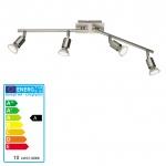 Reality Trio LED Deckenleuchte Deckenlampe nickel matt inkl. Leuchtmittel
