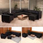 Sofa-System Couch-Garnitur Lyon 6-1-1, Kunstleder