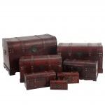 7er Set Holztruhe Holzbox Valence 10x21x10 bis 49x77x47cm
