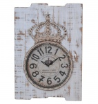 Wanduhr H07, Uhr Wanddekoration, Shabby-Look Vintage, 69x48x5cm