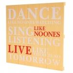 Wandschild Dance, Shabby-Look Vintage 60x60cm