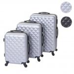 3er Set Koffer HWC-D54b, Reisekoffer Hartschalenkoffer Trolley Handgepäck, Höhe 72/60/50cm