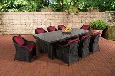 Garten-Garnitur CP065 XL, Sitzgruppe Lounge-Garnitur, Poly-Rattan