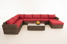 Sofa-Garnitur CP054, Lounge-Set Gartengarnitur, Poly-Rattan