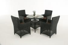Garten-Garnitur CP066, Sitzgruppe Lounge-Garnitur, Poly-Rattan