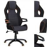 Bürostuhl A150, Chefsessel Drehstuhl, Textil, Lendenwirbelstütze