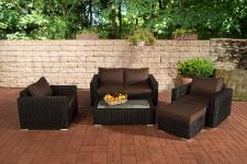 2-1-1 Gartengarnitur CP050 Sitzgruppe Lounge-Garnitur Poly-Rattan