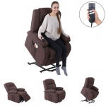 Fernsehsessel Lincoln, Relaxsessel Sessel, 2 Elektromotoren, Aufstehhilfe, Textil
