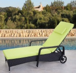 Poly-Rattan Sonnenliege Carrara, Relaxliege Gartenliege Liege, Alu