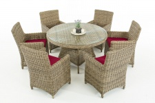 Garten-Garnitur CP072, Sitzgruppe Lounge-Garnitur Poly-Rattan
