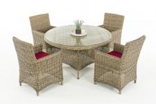 Poly-Rattan Sitzgruppe CP413, Gartengarnitur Lounge-Set