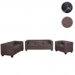 3-2-1 Sofagarnitur Couchgarnitur Loungesofa Lille, Stoff/Textil