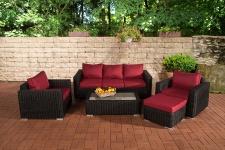 3-1-1 Gartengarnitur CP053 Sitzgruppe Lounge-Garnitur Poly-Rattan