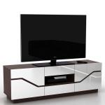 TV Lowboard Torquay, TV-Rack Fernsehtisch, 3D-Struktur hochglanz 149x49x42cm