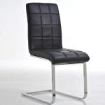 Esszimmerstuhl Freischwinger Stuhl C03, Textilleder