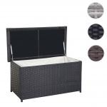 Poly-Rattan Kissenbox HWC-D43, Truhe Auflagenbox Gartentruhe, 51x115x58cm 220l