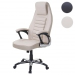 Bürostuhl HWC-A63, Schreibtischstuhl Drehstuhl Chefsessel, Kunstleder
