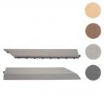 2x Abschlussleiste für WPC Bodenfliese Rhone, Abschlussprofil, Holzoptik Balkon/Terrasse