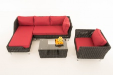 Sofa-Garnitur CP055, Lounge-Set Gartengarnitur, Poly-Rattan