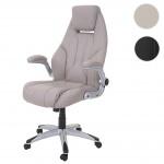 Bürostuhl HWC-A65, Schreibtischstuhl Chefsessel Drehstuhl, Kunstleder