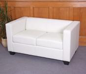 2er Sofa Couch Loungesofa Lille, Kunstleder