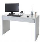 Design Schreibtisch Edmonton, Bürotisch Computertisch, hochglanz 120x50cm
