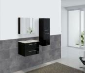 Badezimmerset HWC-C11, Waschtisch Spiegelschrank Hängeschrank, hochglanz