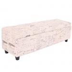 Aufbewahrungs-Truhe Kriens Stoff/Textil, 112x45x45cm