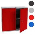 Aktenschrank Valberg T330, Metallschrank, 2 Türen 84x92x37cm