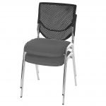 2x Besucherstuhl T401, Konferenzstuhl stapelbar, Textil