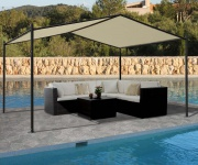 Pergola HWC-A42, Garten Pavillon Terrassenüberdachung, stabiles 6cm Stahl-Gestell 4x3m
