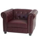 Luxus Sessel Loungesessel Relaxsessel Chesterfield Kunstleder