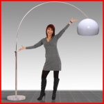 Reality|Trio Bogenlampe Lounge Deal, Höhe: 2, 06m, Schirm: 40cm
