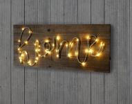 LED-Holzschild, Leuchtbild Wandbild, Landhaus