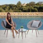 Luxus Poly-Rattan-Garnitur Madrid, Alu-Gestell