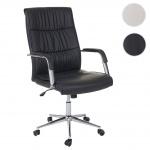 Bürostuhl HWC-A49, Schreibtischstuhl Drehstuhl Chefsessel, Kunstleder