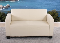 2er Sofa Couch Lyon Loungesofa Kunstleder