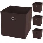 4x Faltbox T362, Aufbewahrungsbox Ordnungsbox, Textil 28x28x28cm
