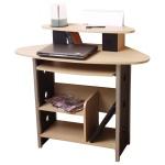 Schreibtisch H100, Computertisch Bürotisch PC-Tisch, 91x100x49cm