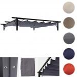 Ersatzbezug für Dach Pergola Pavillon HWC-C42 3, 5x3, 5m