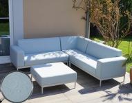 Alu-Garten-Garnitur HWC-C47, Sofa, Outdoor wasserabweisend