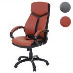 Bürostuhl HWC-A64, Schreibtischstuhl Drehstuhl Chefsessel, Kunstleder